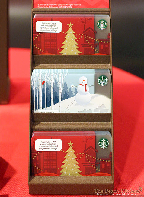 Starbucks Card Christmas Designs and Leather Card Carrier | www.thepeachkitchen.com