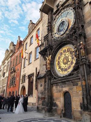 Fachada sur del viejo ayuntamiento de Praga