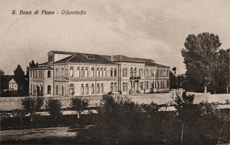 Cartolina del 1928 con l'Orfanotrofio, attuale Casa Saretta