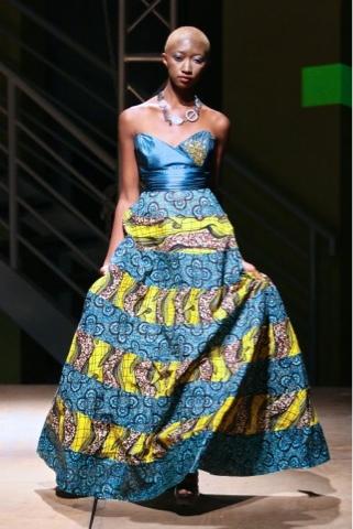 Kitenge in long gown/skirt
