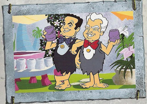 """Este es el cameo de William Hanna y Joseph Barbera, más conocidos como """"Hanna - Barbera"""" son los """"padres"""" de """"The Flintstones""""."""