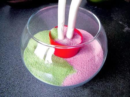 Coloque o sal colorido