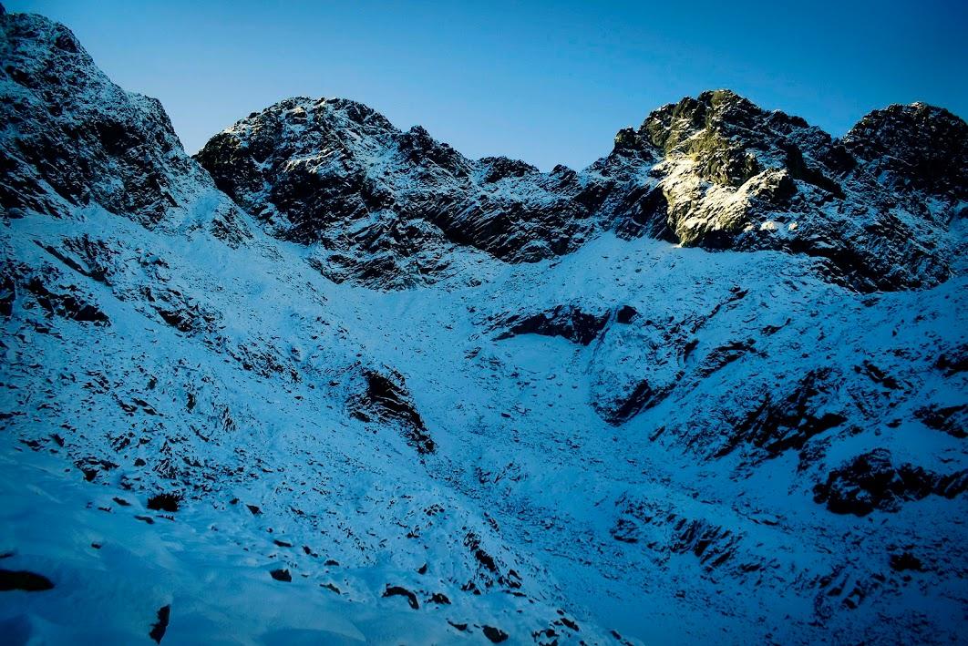 Podejście do Koziej Dolinki zimą