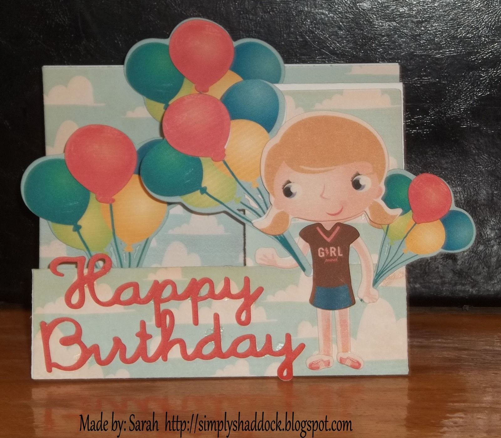 Simply By Sarah Imagine Side Step Birthday Card