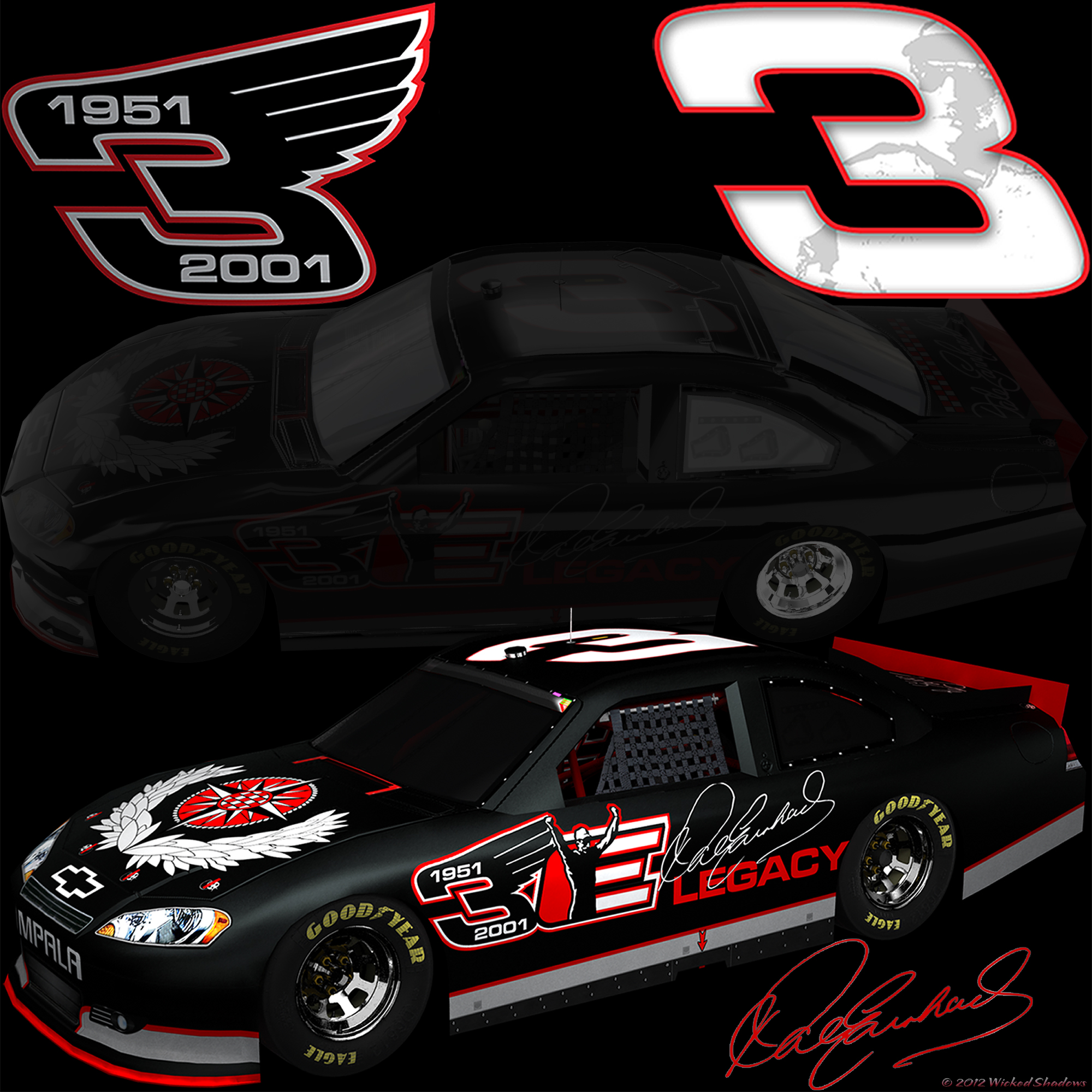 Wallpapers By Wicked Shadows: Dale Earnhardt Sr Blackout