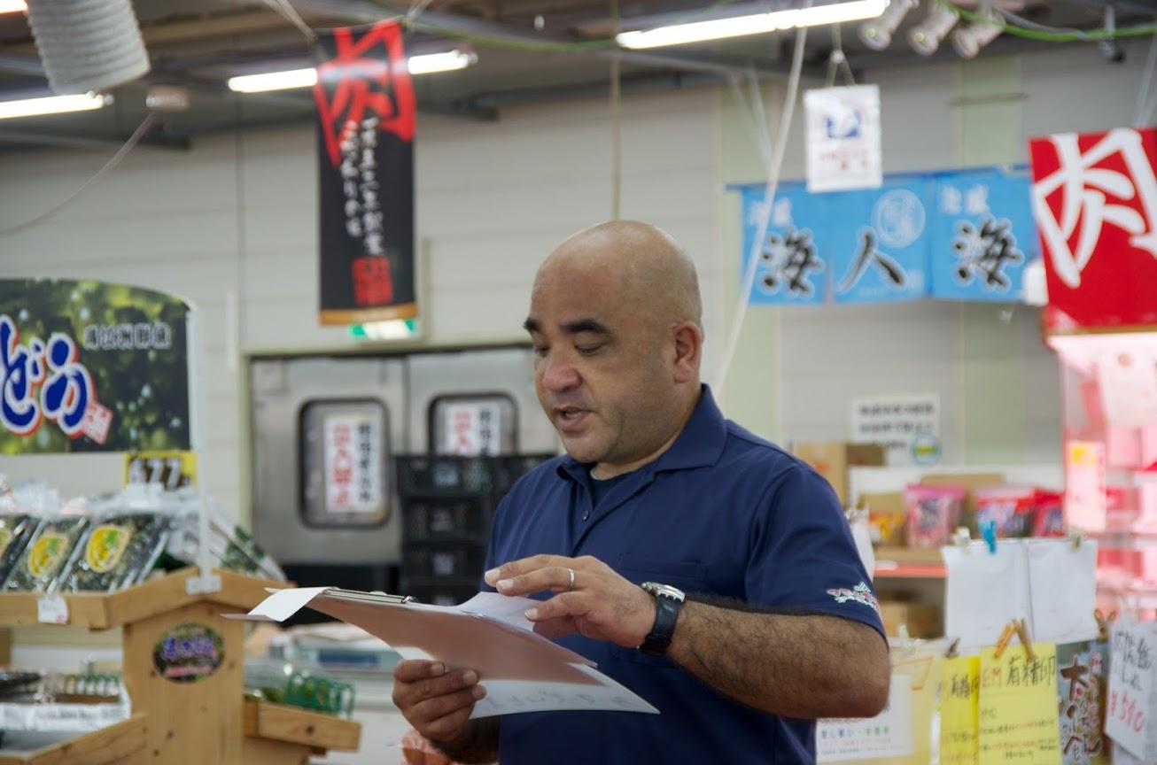 ファーマーズ・マーケットいとまん うまんちゅ市場・金城 和弘店長