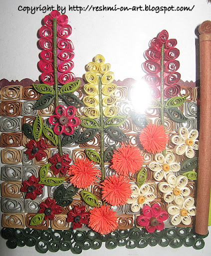 Quilled-colourful-flowers
