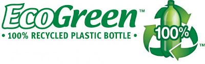 EcoGreen 100 percent recycled PET bottle