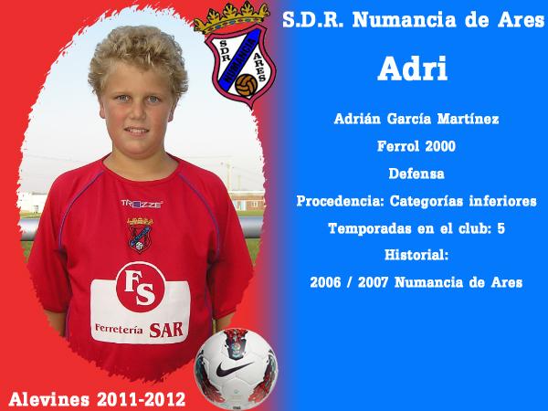 ADR Numancia de Ares. Alevíns 2011-2012. ADRI.