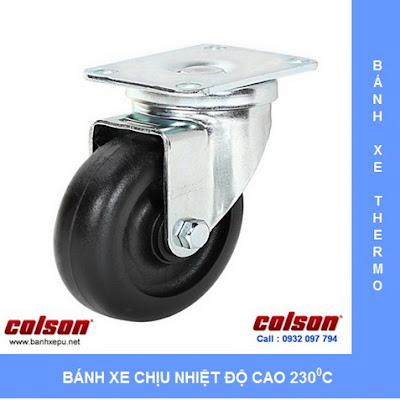 Banh1 xe chịu nhiệt độ cao colson cho lò nướng bánh
