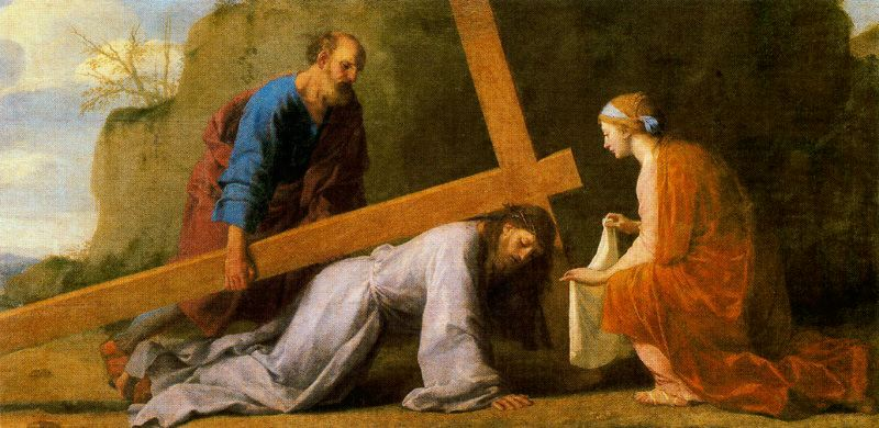 Eustache Le Sueur - Christ Carrying the Cross