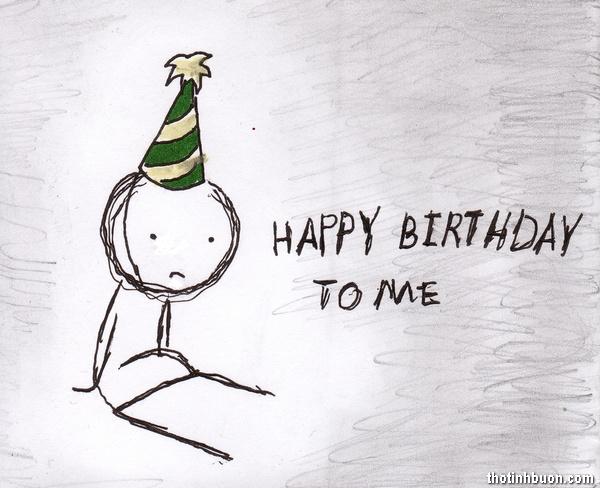 thơ tâm trạng buồn ngày sinh nhật