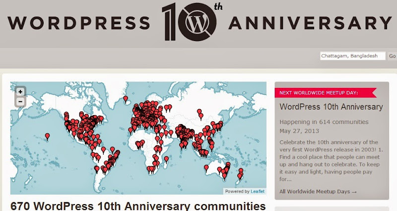 wordpress 10 year anniversary