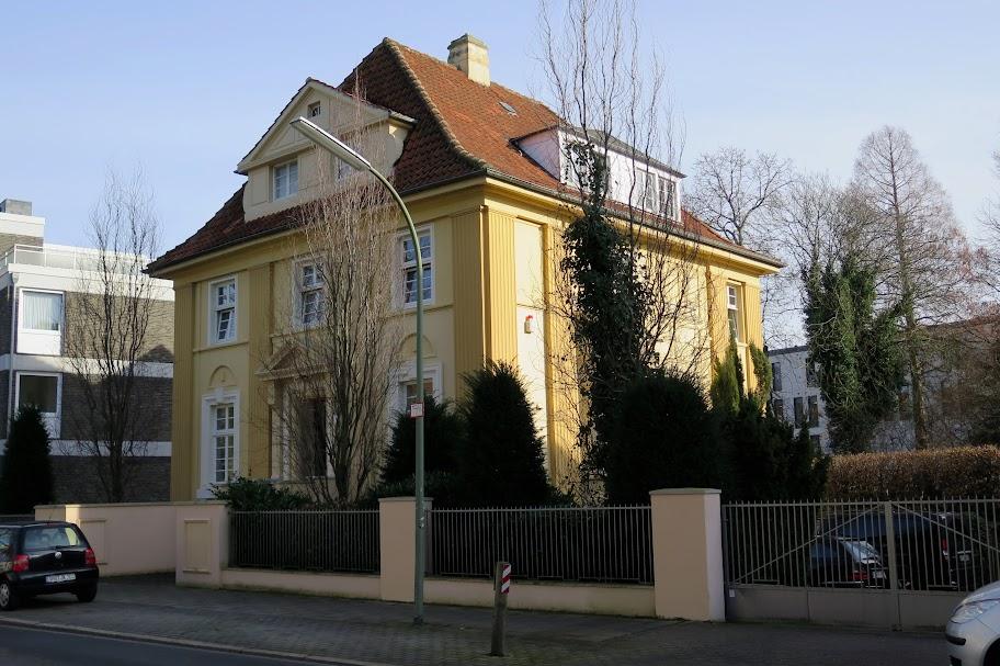 In diesem Haus, in Osnabrück, lebte Felix Nussbaum einst