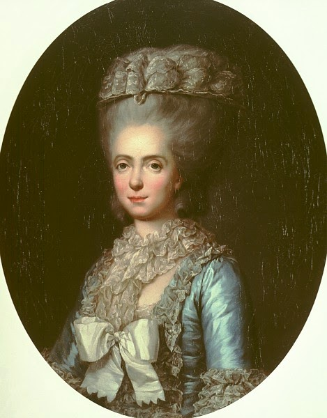 Anne Vallayer-Coster - Portrait of Marie-Adelaide-Louisa de France, called Madame Adelaide