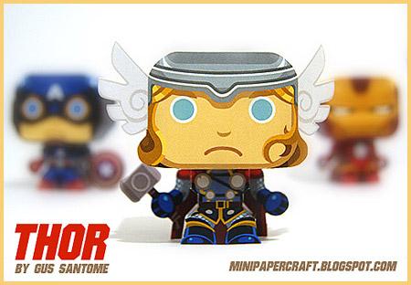 Mini Thor Paper Toy