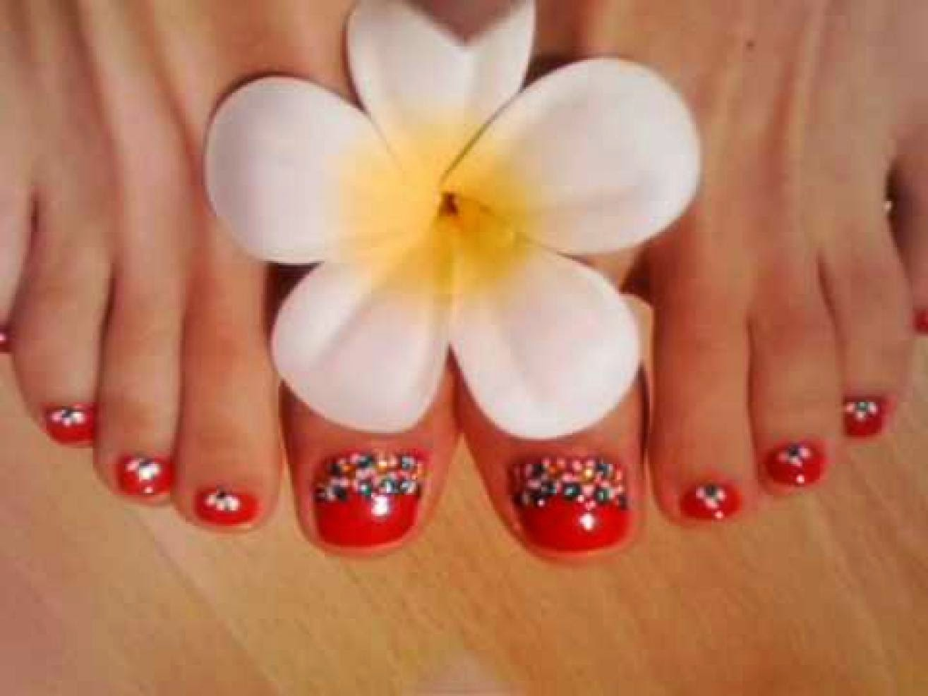 Red and black toe nail art designs beach nail art designs ideas red and black toe nail art designs galleryhip the hippest view images prinsesfo Image collections