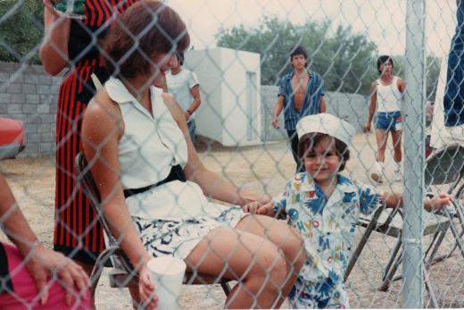 Familia  en el campeonato nacional de ligas pequeñas división menor de 1986