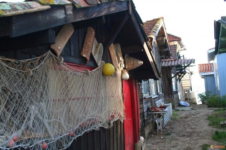 Cabane de pêcheur avec ses touches de déco personnelles
