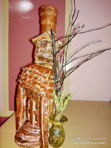 مجسم من خامات البيئه من اعمالى