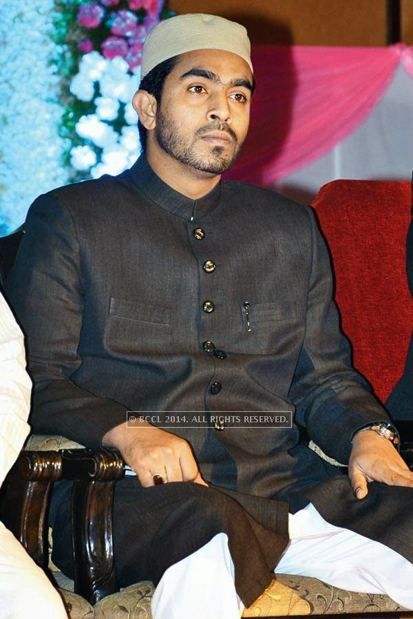 Majid Ali during the iftaar party, held in Hyderabad.