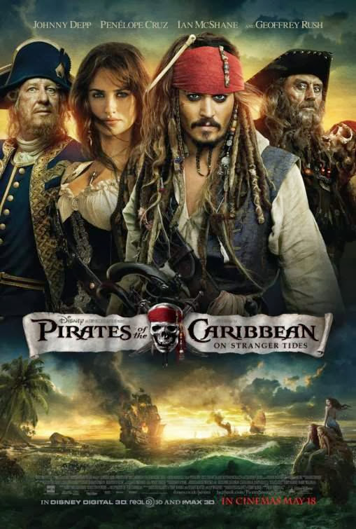 Poster Of Pirates of the Caribbean 4: On Stranger Tides (2011) Full Movie Hindi Dubbed Free Download Watch Online At Alldownloads4u.Com