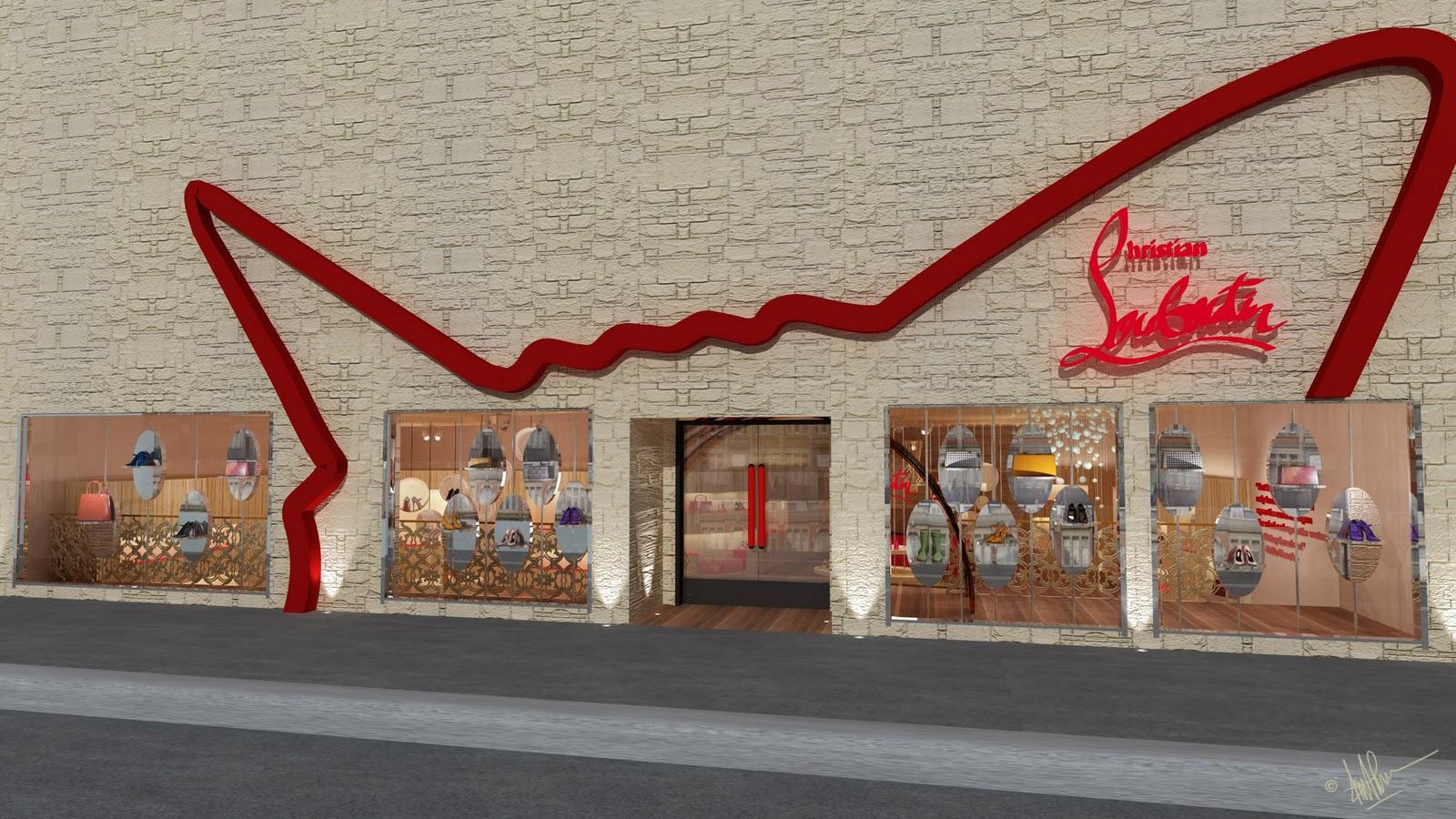 Cynthia Khouw Interior Design  Christian Louboutin Store a4334c514741