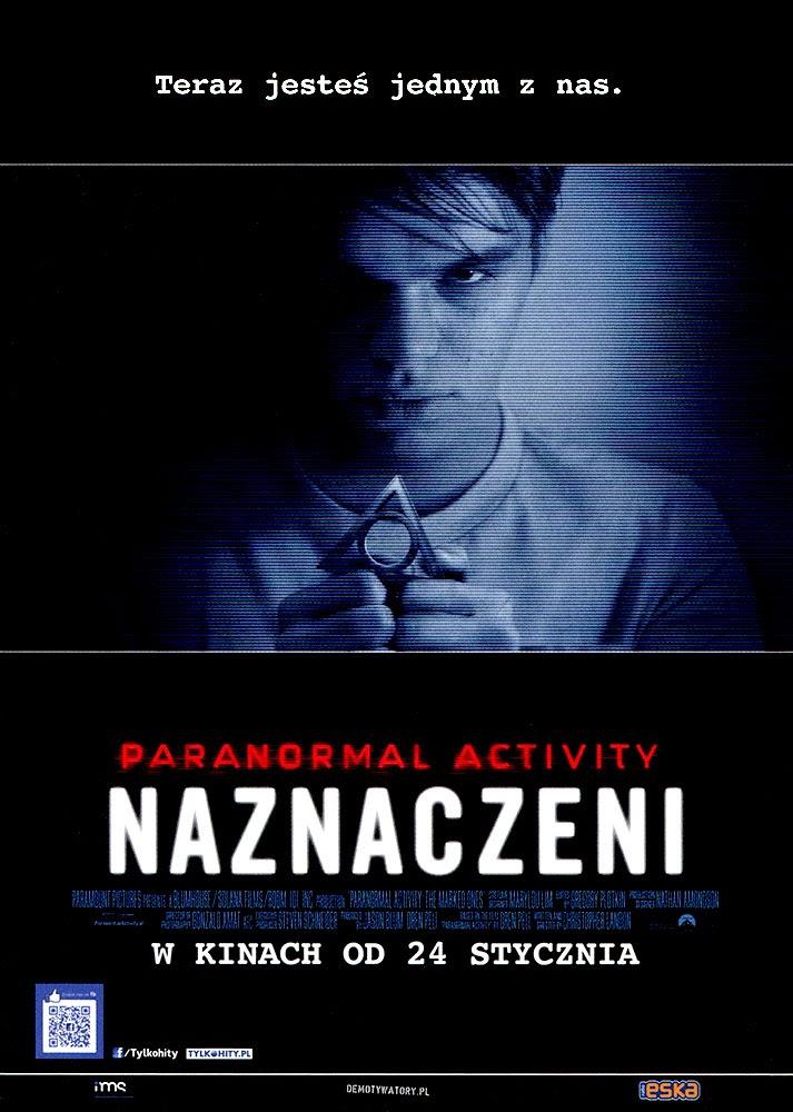 Ulotka filmu 'Paranolmal Activity: Naznaczeni (przód)'