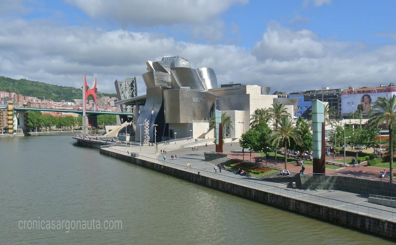 viaje en bici hasta el Guggenheim