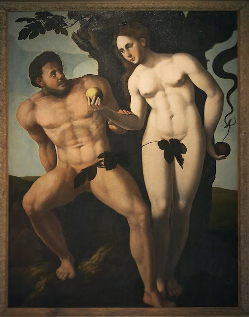 Jan van Scorel - Adam and Eve