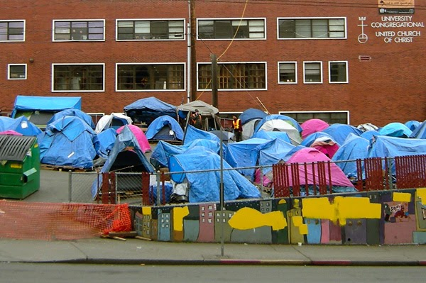 foreclosure tent city