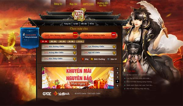 GameLandVN tặng 100 giftcode Tam Quốc Chiến 1