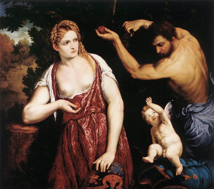 Paris Bordone - Venus and Mars with Cupid