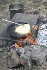 Making fry bread at Sunrise Campground, Paseo del Lobo July 13-15 (Photo by D. Sayre)