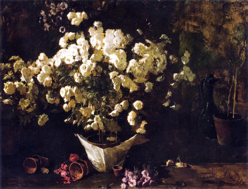 Emil Carlsen - Still Life of Chrysanthemums