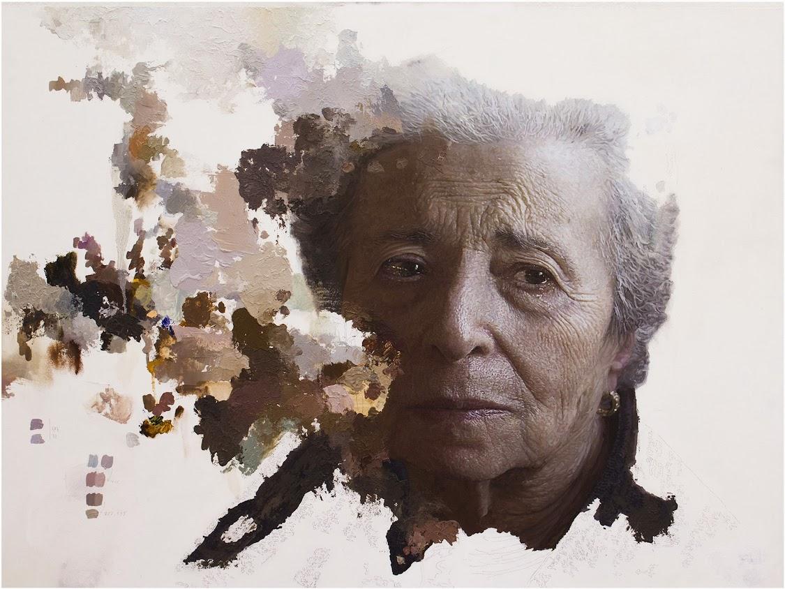 María José Cortés Antequera retrato en óleo de Amelia