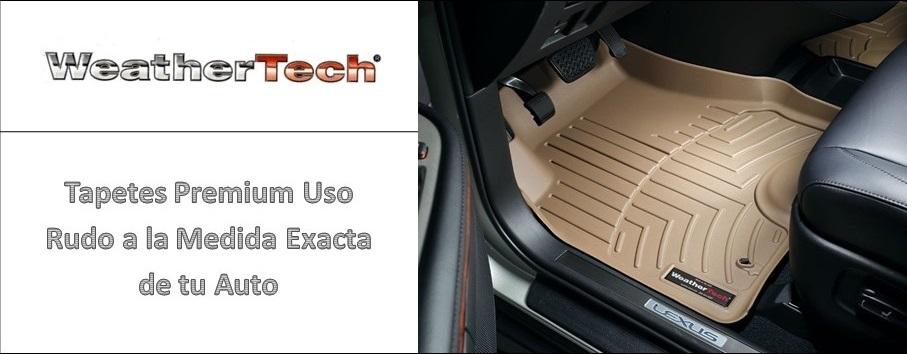 Tapetes WeatherTech Tipo Charola Premium Uso Rudo a la Medida Exacta de tu Auto