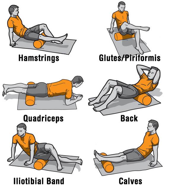 瑜伽滾輪使用的動作
