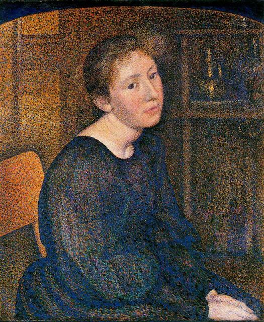 Georges Lemmen - Portrait of Mme. Lemmen
