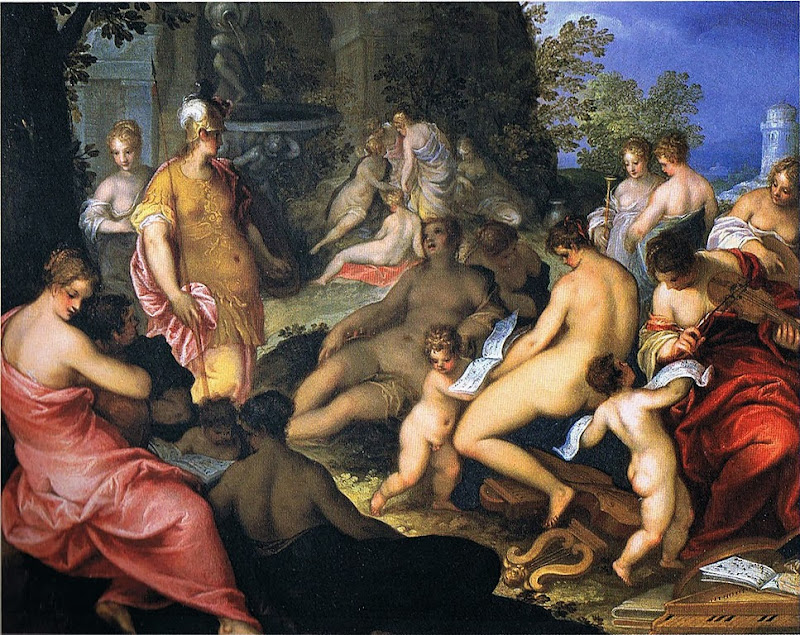 Hans Rottenhammer - Minerva and the Muses on the Helikon