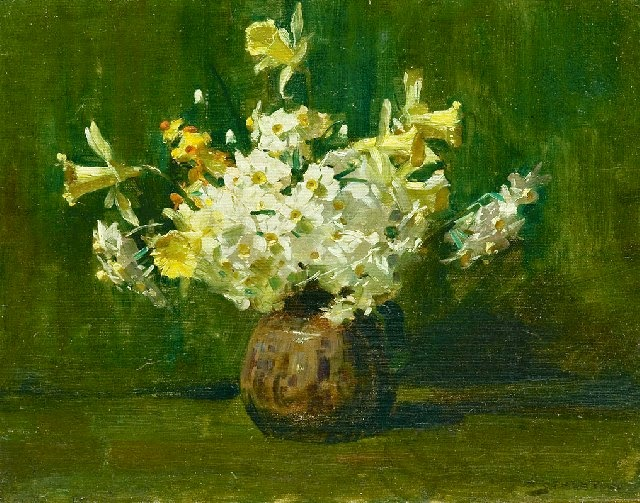 Arthur Streeton - A Bunch of Flowers