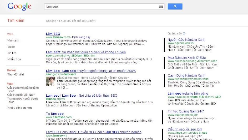 Quảng cáo Google không hiệu quả