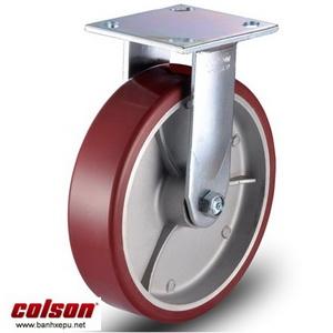 Bánh xe PU càng cố định 8 inch Colson Mỹ chịu lực 680kg | 6-8278-939