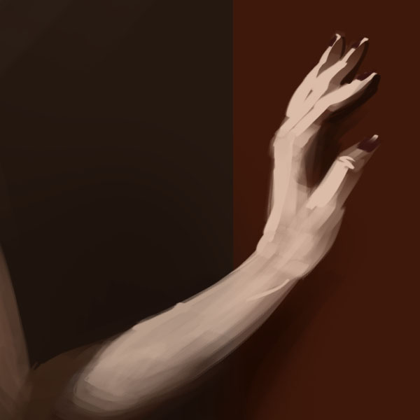 digital painting hand