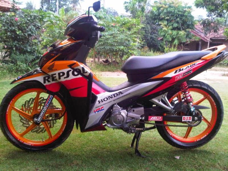 Foto Modifikasi Motor Blade Repsol