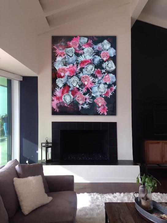 Victor Angelo Artist Red White Black Paintings Series 2013 Interior Design Showcase Modern Art Advisory Residential International Contemporary Art Collection