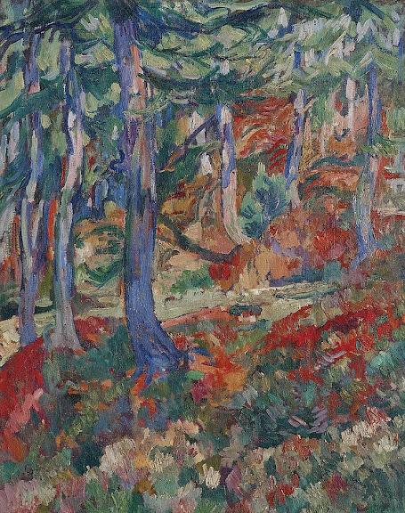 Giovanni Giacometti - Bosco d'autunno (Wald im Herbst), 1924