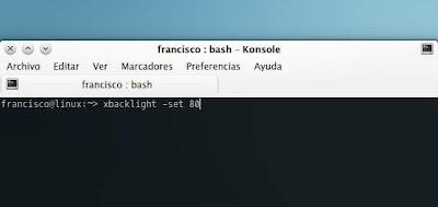 Ajustando el brillo de la pantalla con Xbacklight