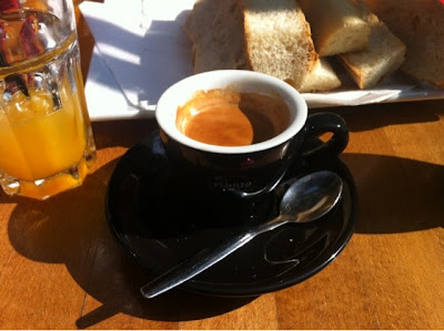 Espresso at La Terrrasse. Paris, France www.thebrighterwriter.blogspot.com
