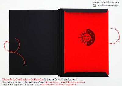 Llibre de la Confraria de la Ratafia, fet a mà a Llibres Artesans